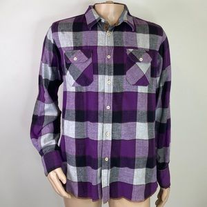 Men's Shirt Atelier Purple & Grey Flannel